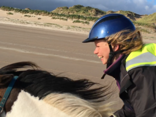 Galloping on the Beach
