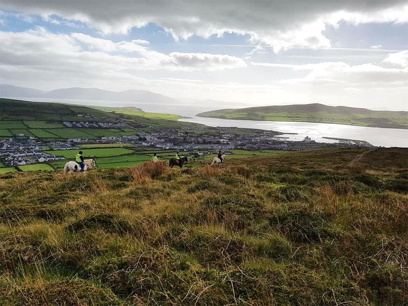 Horse Trek in the hills behind Dingle Town