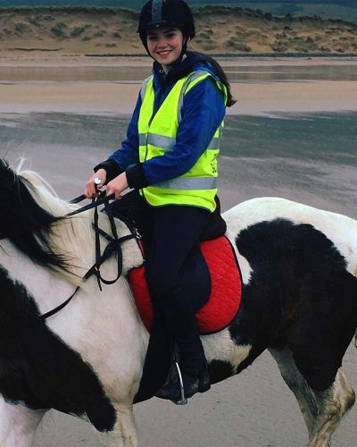 Sophie Callery on horseback